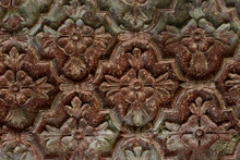 Fragment Of Decoration Of The Palace. Vrindavan,India