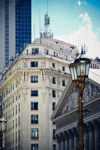 Papel de parede Building near Plaza de Mayo and the Metropolitan Cathedral in Buenos Aires with