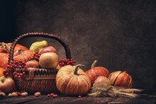 Thanksgiving Background. Autum...