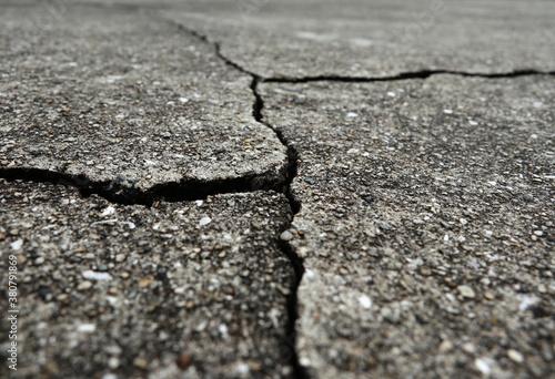 コンクリートの亀裂 6 Fototapet