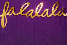Deck The Hall Christmas Lyrics : Fa La La La Banner