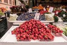 Stall At The Fruit Market In Gdansk/ Poland