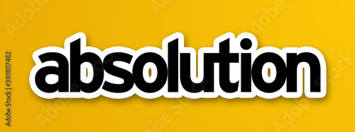 Photo absolution in yellow background
