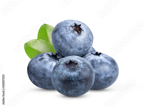 Papel de parede blueberries on white background