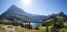 Bullhead Lake Panorama In Glacier National Park