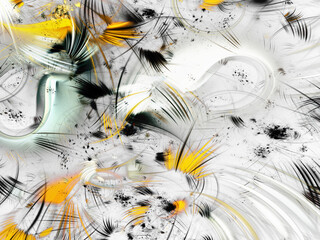 Panel Szklany Abstrakcja yellow abstract fractal background 3d rendering illustration