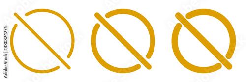 Obraz na plátně Set of orange no sign. No prohibition symbol