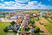 Town Of Vrbovec Scenic Aerial ...