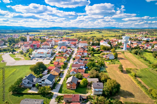 Fototapeta Town of Vrbovec scenic aerial view obraz