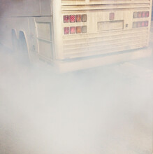 Exhaust Pipe Smoke Of An Old Bus
