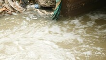 Water Pollution - Rubbish Garbage With Water - 9