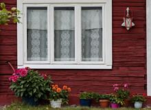 A Window Of An Old Sauna Build...