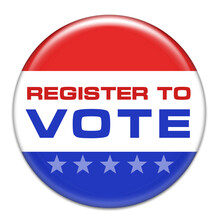 Register And Vote - Voting Badge
