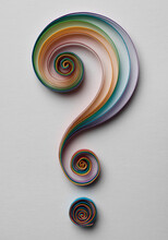 Quilling Question Mark