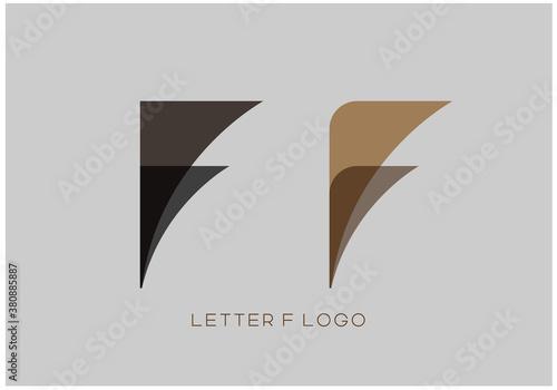 Fotografia, Obraz vector illustration of creative capital alphabet letter F logo design