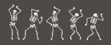Funny Skeletons Dancing. Day O...