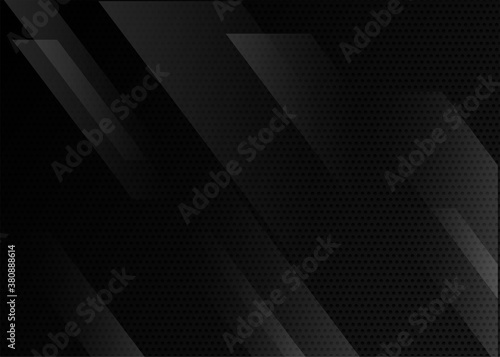 black abstract geometric background. modern background template.modern shape concept