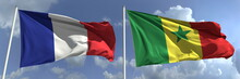 Flags Of France And Senegal On...