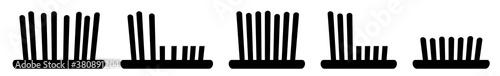 Fotografie, Obraz Grass Icon Black | Lawn Illustration | Mow Symbol | Mowing Meadow Logo | Cut Sig