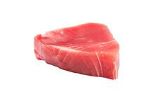 Yellow Fin Tuna Steak Isolated...