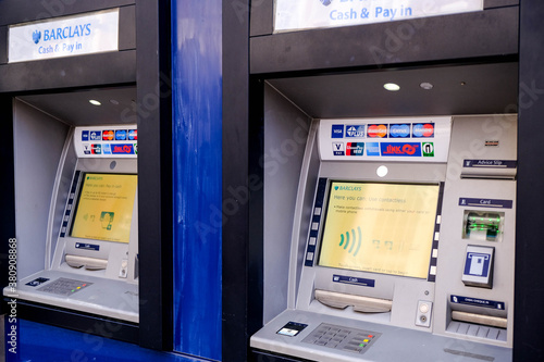Easy Access Automated Barclays Bank Cash Point Machine