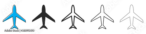 Papel de parede Aircraft icons. Set of airplane icons. Vector illustration.