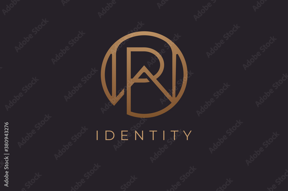 Fototapeta Abstract initial letter W and P logo,usable for branding and business logos, Flat Logo Design Template, vector illustration