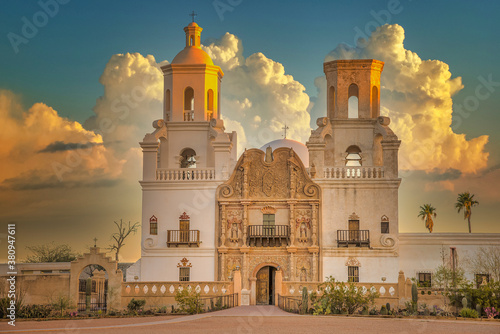 Foto San Javier del Bac Catholic Mission Church Tucson Arizona USA