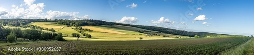 Fototapeta Idyllic panorama from farmland and meadows obraz