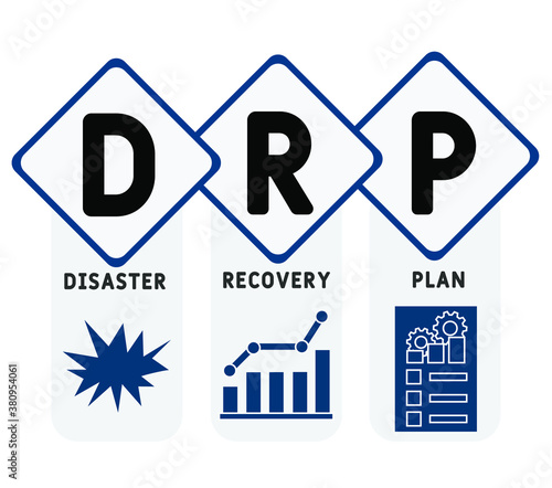 Fotografie, Obraz DRP - Disaster Recovery Plan business concept background