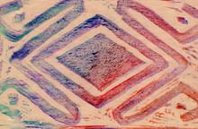 Símbolo Precolombino En Crayo...