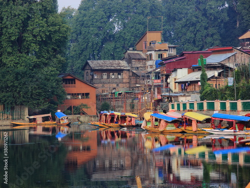 Kashmir, Srinagar, Beautiful, Dal Lake, India, water body with shikara