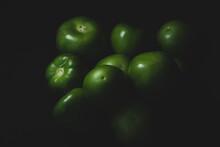 Portrait Of Tomatillo, Mexican Husk Tomato, Selective Focus