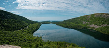 Cloud Reflections In Jordan Pond From South Bubble Point In Acadia National Park
