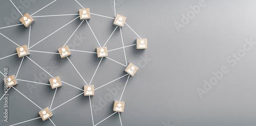 Obraz Teamwork, network and community concept. - fototapety do salonu