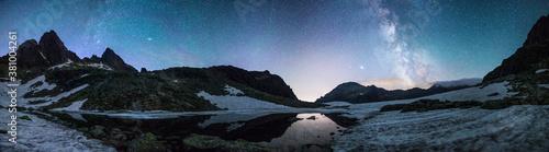 Milky way night panorama