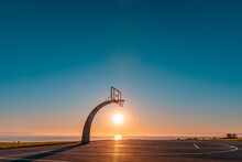 Sunset Basketball Court Shot I...