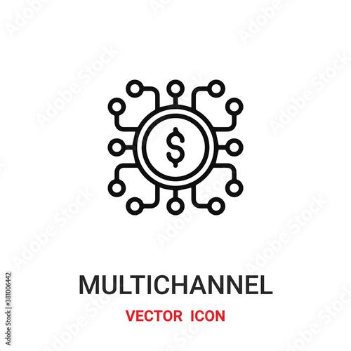 Photo multichannel icon vector symbol