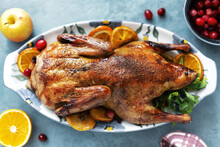 Baked Duck With Vegetables