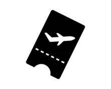 Airplane Ticket Vector Icon Is...