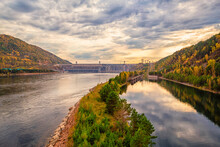 View Of The Hydroelectric Dam ...