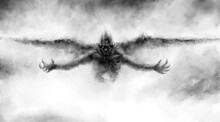 Illustration Of Scary Flying V...