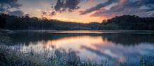 Beautiful Lakeside Sunset Pano...