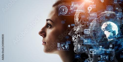 Fototapeta AI・人工知能 シンギュラリティ
