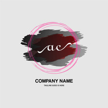 AE Initial Handwriting Logo With A Beautiful Template