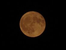 Moonset, Sunset, Moom Photo In Zoom