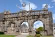 Sizun. Arc de triomphe de l'église Saint-Suliau. Finistère. Bretagne