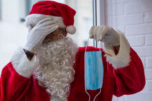 Santa Claus Showing The Medica...