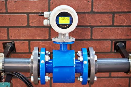 Fototapeta Electromagnetic flowmeter detector obraz