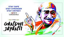 Vector Illustration Of Mahatma...
